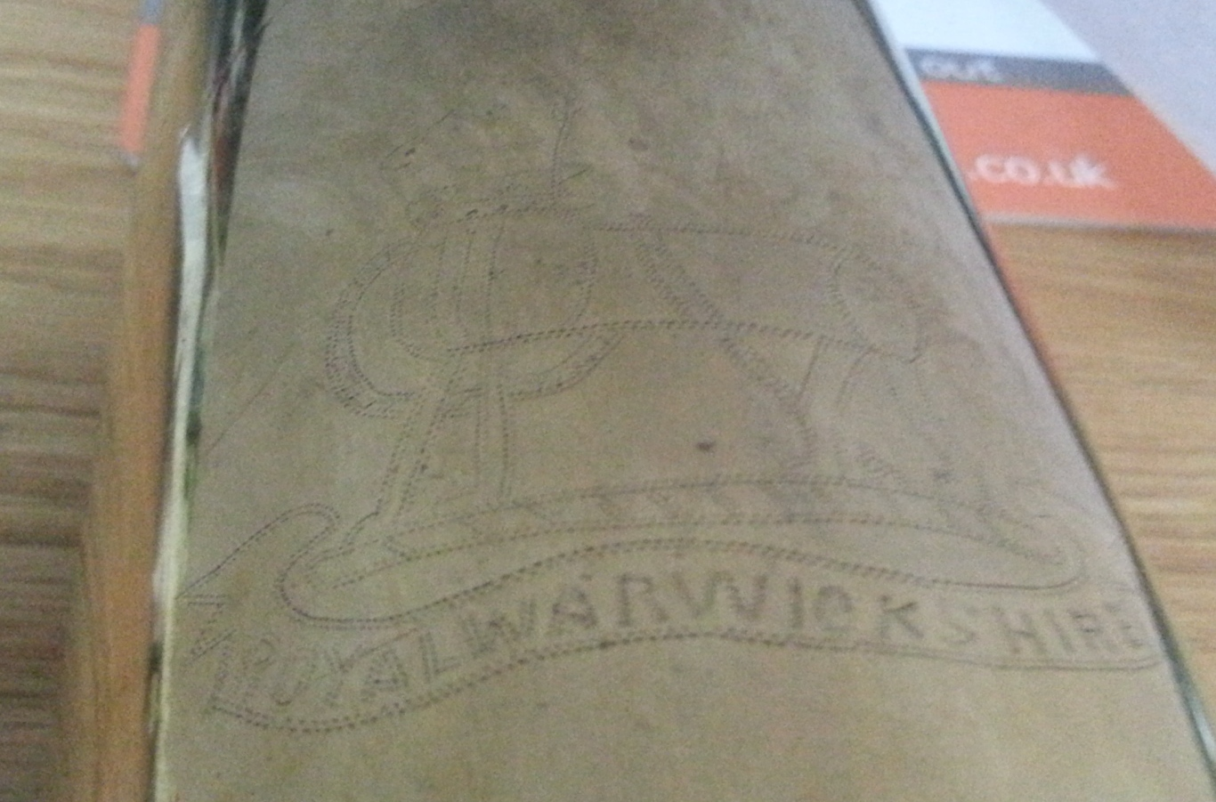 Warwickshire Regiment Trench Art